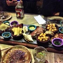 Feast at Andres Carne de Res, Bogota
