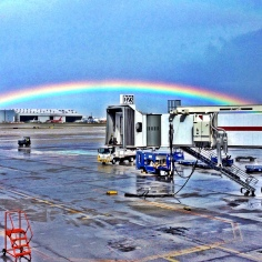 Rainbow at Miami International Airport