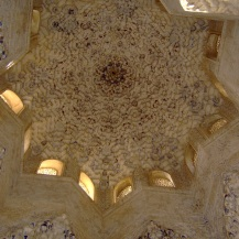Ceiling at the Alhambra, Granada, Spain