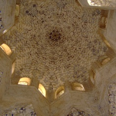 Ceiling at the Alhambra, Granada, Spain