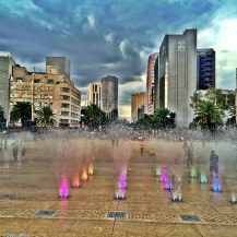 Fountain in front of Monumento de la Revolution, Mexico City