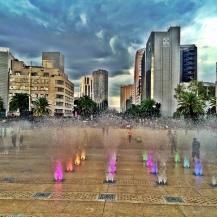 Fountain in front of Monumento de la Revolution, Mexico City