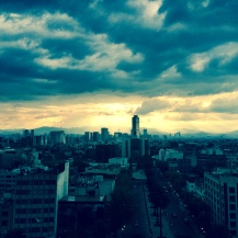 Sunset over Mexico City