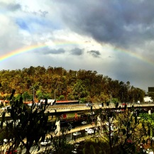 Rainbow over Mexico City