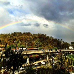 Rainbow over Mexico City